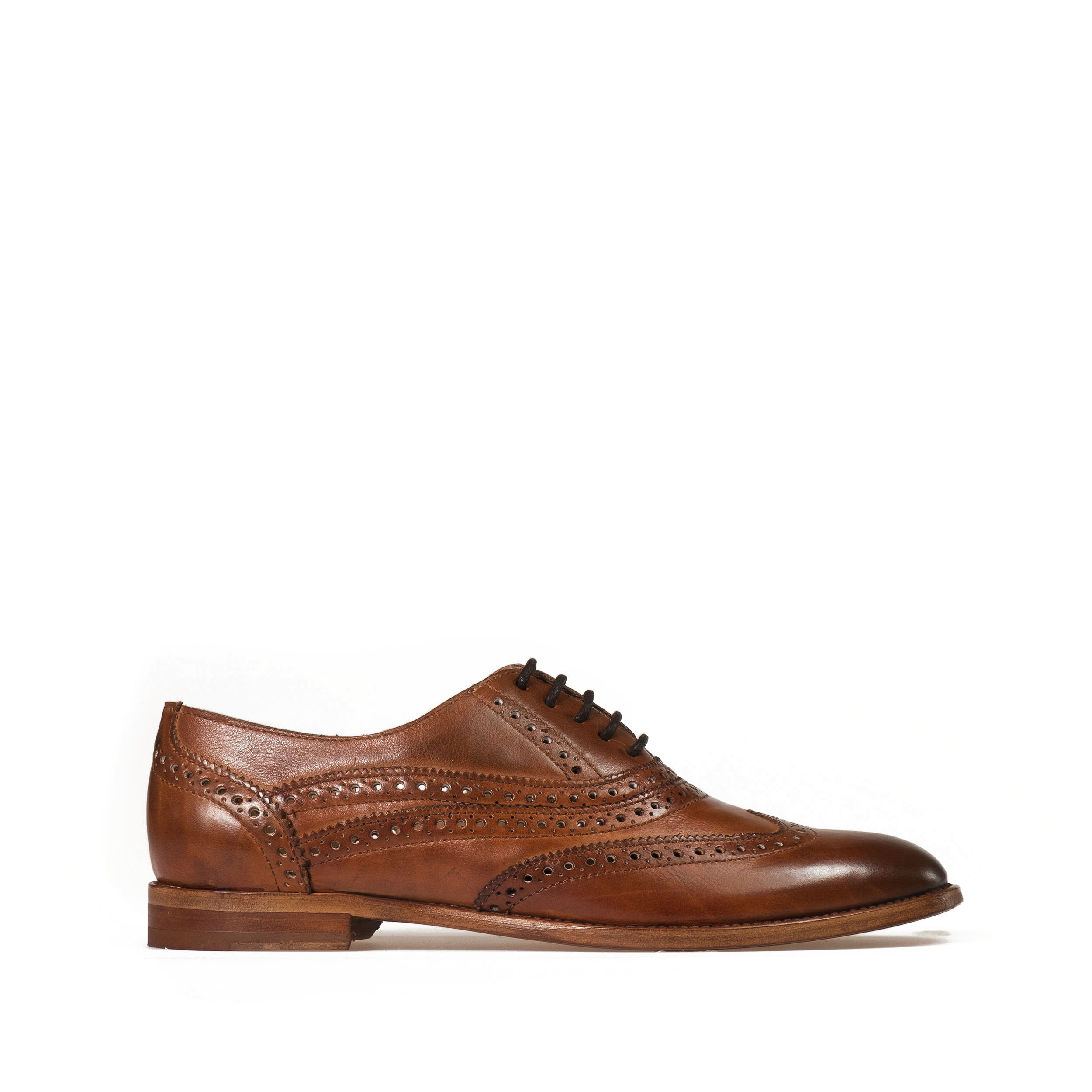 Brogue shoe genuine leather made in Italy